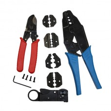 5 Die Wire Cutting Crimping Plier Set 7 in 1 Coaxial CCTV cable Hex