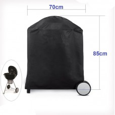 Kettle round bbq cover waterproof 50-70cm h85d70cm uv fix-hole barbecue