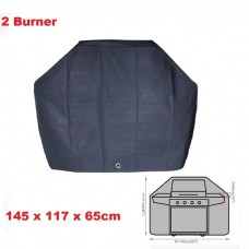 2 Burner BBQ Cover Waterproof l145h117w65cm Charcoal Barbecue Fix-hole