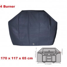 4 Burner BBQ Cover Waterproof l170h117w65cm Charcoal Barbecu UV Fixhole