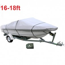 16-18 ft Trailerable Marine Boat Cover 4.9-5.6M Rain Sun UV Half Cabin