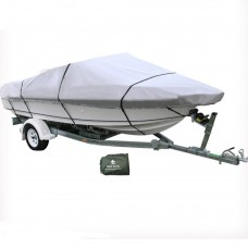 17-19 ft Trailerable Marine Boat Cover 5.2-5.8M Rain Sun UV Half Cabin