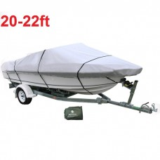 20-22 ft Trailerable Marine Boat Cover 6.1-6.7M Rain Sun UV Half Cabin