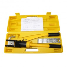 13Ton Hydraulic Crimper Kit 11Die HEX 16-300mm Cable Lug force Crimping