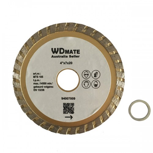 "10 X Dry Wet Diamond Cutting Wheel 4.0"" 105mm Turbo Saw Blade Disc Bore 20mm for Concrete Brick Tile"