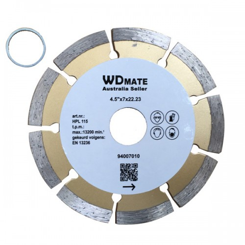 "10 X Dry Diamond Cutting Wheel 4.5"" 115mm Segmented Saw Blade Disc Bore 22.23mm for Concrete Brick Tile"
