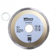"10 X Wet Diamond Cutting Wheel 4.5"" 115mm Continuous Saw Blade Disc Bore 22.23mm for Concrete Brick Tile"