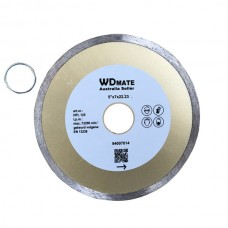 "10 X Wet Diamond Cutting Wheel 5"" 125mm Continuous Saw Blade Disc Bore 22.23mm for Concrete Brick Tile"