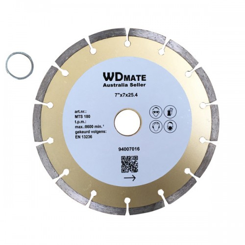 "5 X Dry Diamond Cutting Wheel 7"" 180mm Segmented Saw Blade Disc Bore 25.4mm for Concrete Brick Tile"