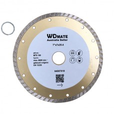 "5 X Dry Wet Diamond Cutting Wheel 7"" 180mm Turbo Saw Blade Disc Bore 25.4mm for Concrete Brick Tile"