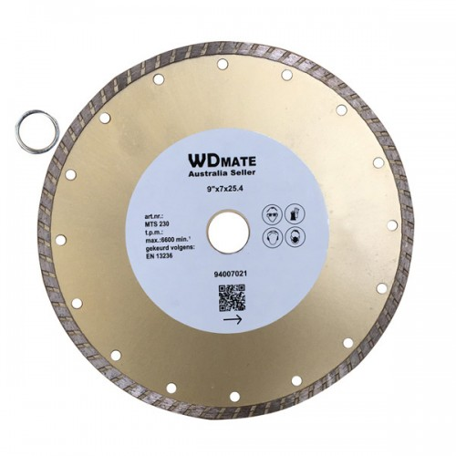 "5 X Dry Wet Diamond Cutting Wheel 9"" 230mm Turbo Saw Blade Disc Bore 25.4mm for Concrete Brick Tile"