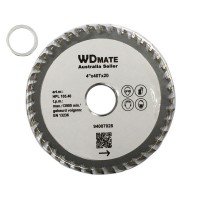 "10 X 4"" 105mm 40Teeth TCT Circular Saw Blade Round Cross Cutting Wheel for General Purpose Wood Cutting"