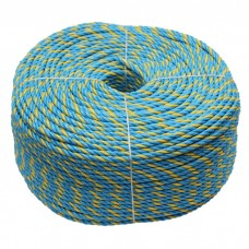 6mm 250M Telstra Rope Parramatta Coils Roll PP 3strand Break 595Kg UV