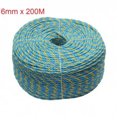 6mm 200M Telstra Rope PP Coil Parramatta 3Stand UV Break 595Kg Marine