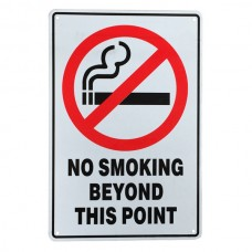Warning sign no smoking beyond this point 200x300mm public health