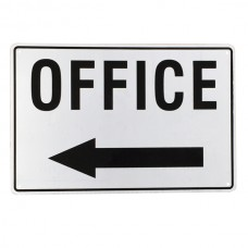 Office sign with arrow pointing left 200x 300mm aluminum metal sign