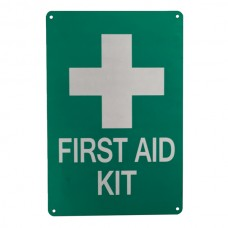 Sign marking first aid kit 200x300mm medical care emergency help al