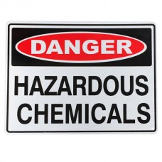 Hazardous chemicals sign safety warning danger 225x300mm al storage ehs